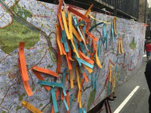 Intervention at Avenida Paulista, Places en Relation, Bienal de Arquitetura