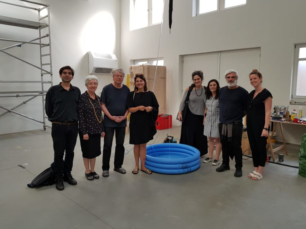 At Roman Signer's studio (St. Gallen)