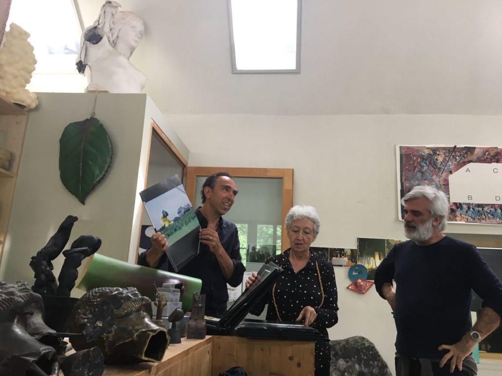 Felix Lehner, Nydia Gutierrez and Enrique Rivera at Sitterwerk (St. Gallen)