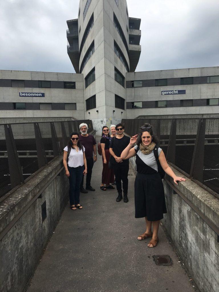 The delegation en route to Kunstmuseum Aarau