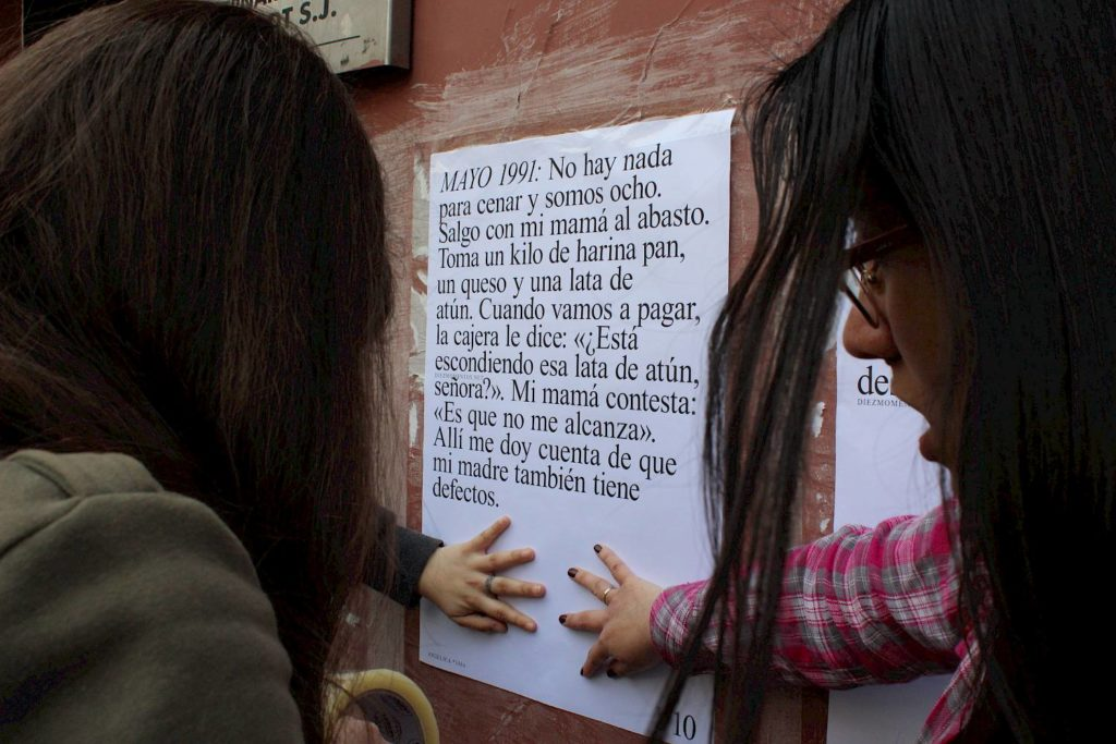 «Diez momentos en mi vida» in the streets of Santiago (Chile) (c) Francisca Lizana Miranda