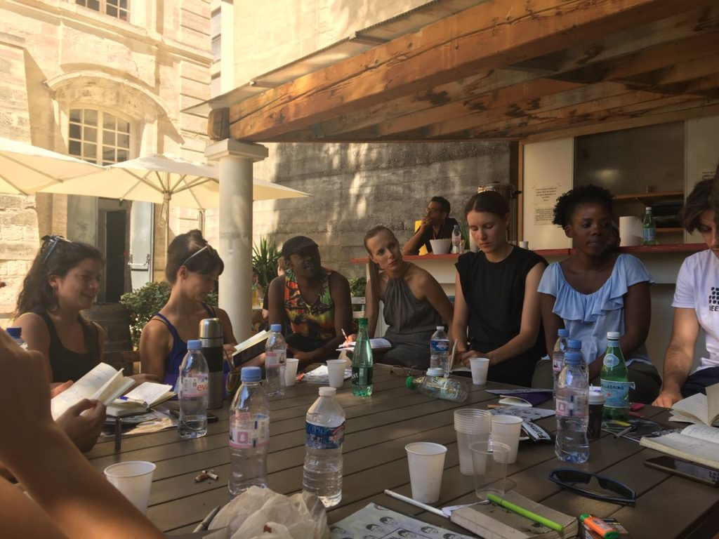 Group of participants at the Avignon Seminar, organized by Pro Helvetia (c) Martha Kiss Perrone
