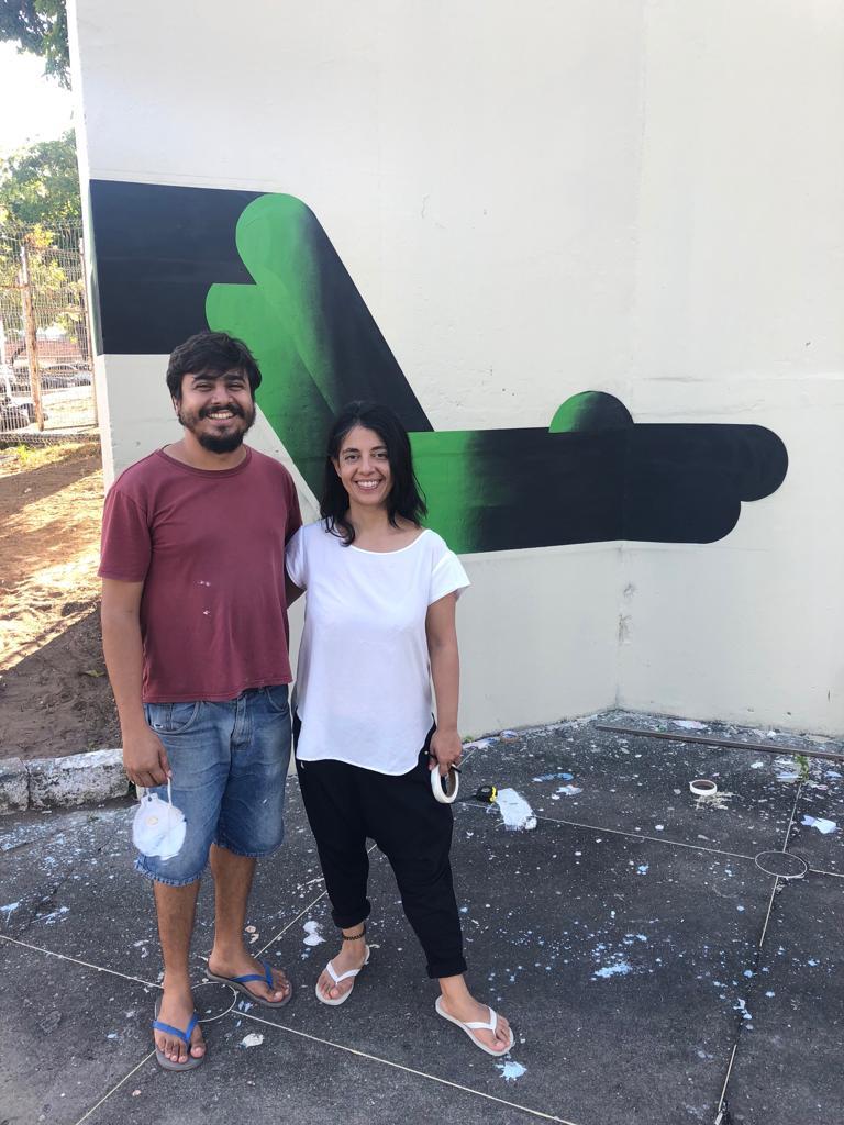 Ana Roldan with brazilian artist Americo Filho