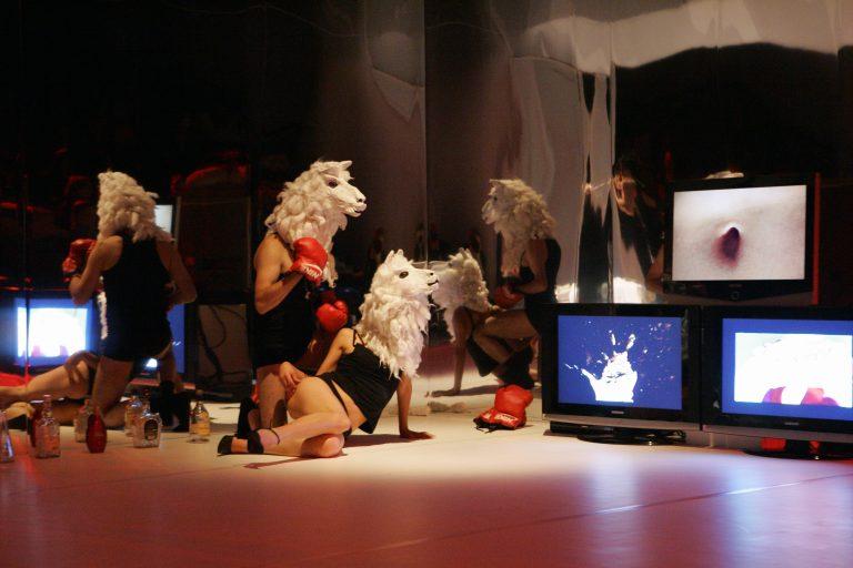 «Morales» theatre piece created by Aramburo and his company Kiknteatr in 2015 ©Siim Vahur