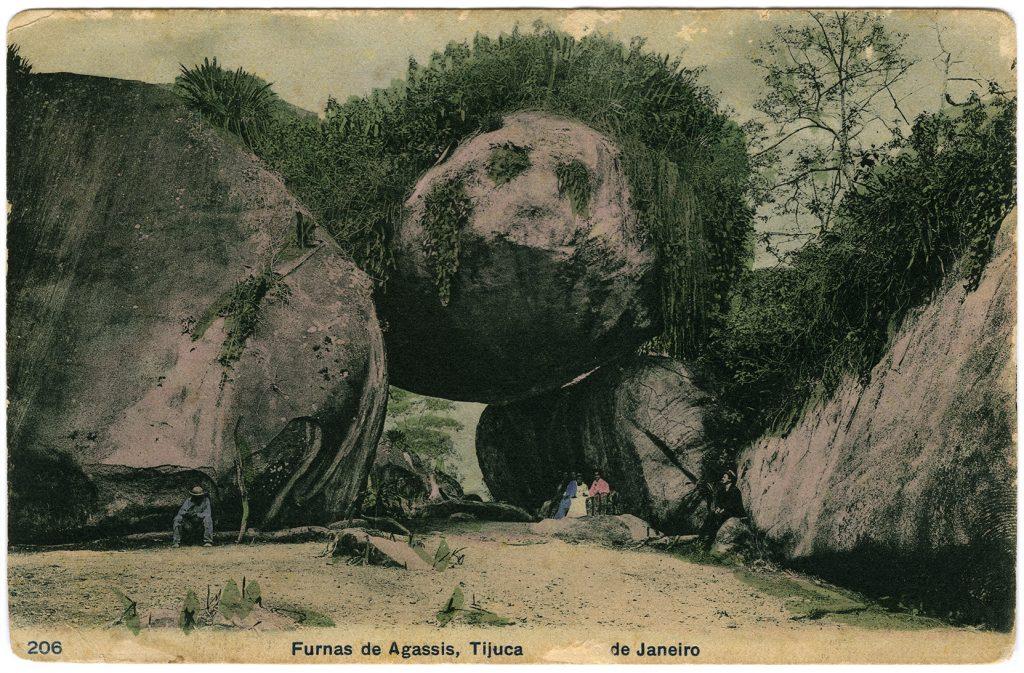 «Furnas de Agassiz», postcard from 1908, found on a Rio de Janeiro flea market in 2009.