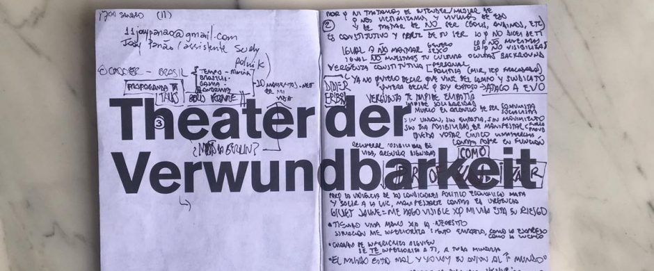 Aramburo´s notebook used during the research trips ©COINCIDENCIA