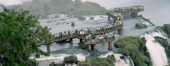 Photograph of «Cataratas do Iguaçu» part of the exhibition «Conquistador» ©Nicolas Savary