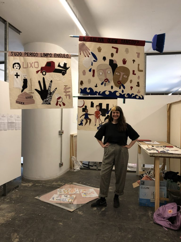Lea Meier in her studio at Pivo ©COINCIDENCIA