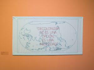 Work part of the exhibition «Un kilómetro de conocimientos invisibles» ©Ingrid Wildi Merino